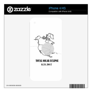 total eclipes 8 2017 skins for iPhone 4S
