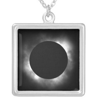 total eclipse silver plated necklace