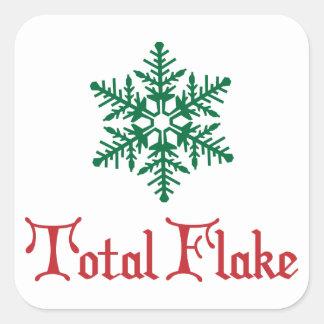 Total Flake Square Sticker