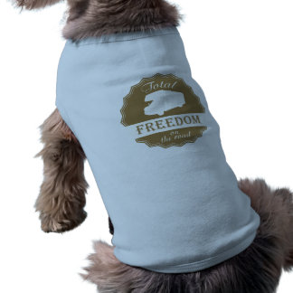 Total Freedom on the Road retro Class C RV Doggie Tee
