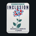 "Total Inclusion Magnet<br><div class=""desc"">In a time of intense change and uncertainty, especially for those most marginalized among us, many people are looking for ways to express their values of openness, acceptance, tolerance, and love. This magnet is a small step we can take to convey our deepest beliefs to visitors to our homes and...</div>"