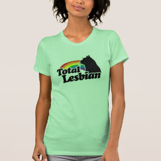 TOTAL LESBIAN CAT - WHITE - WHITE -.png Tee Shirt