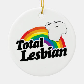 TOTAL LESBIAN MUFFIN - WHITE -.png Christmas Ornaments