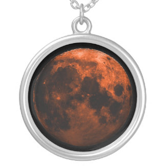 Total Lunar Eclipse 12/20/2010 Silver Plated Necklace