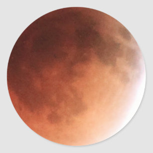 Total Lunar Eclipse (14) 1:07am April 15, 2014 Classic Round Sticker