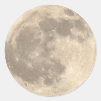 Total Lunar Eclipse (1) 11:09pm April 14, 2014 Classic Round Sticker