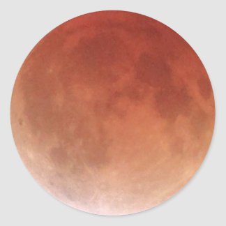 Total Lunar Eclipse (20) 1:52am April 15, 2014 Classic Round Sticker