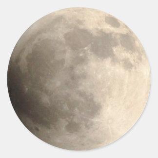 Total Lunar Eclipse (2) 11:55pm April 14, 2014 Classic Round Sticker