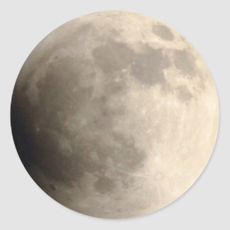 Total Lunar Eclipse (3) 12am April 15, 2014 Classic Round Sticker