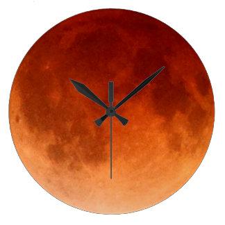 Total Lunar Eclipse Blood Moon Clock