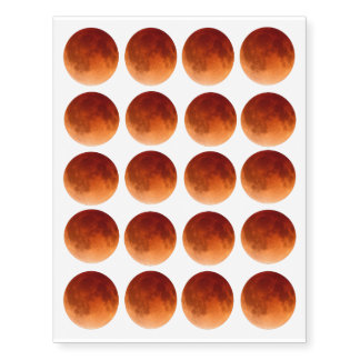 Total Lunar Eclipse Blood Moon Temporary Tattoo