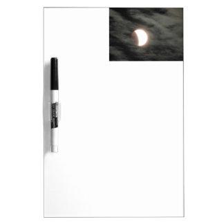 Total Lunar Eclipse in Clouds Dry-Erase Board