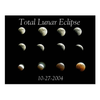 Total Lunar Eclipse Photo Postcard