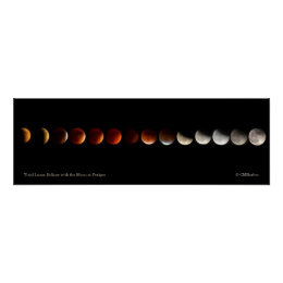 Total Lunar Eclipse with the Moon at Perigee Poster