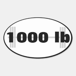 total powerlifting 1000lb pegatina ovalada
