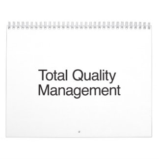 Total Quality Management Wall Calendars