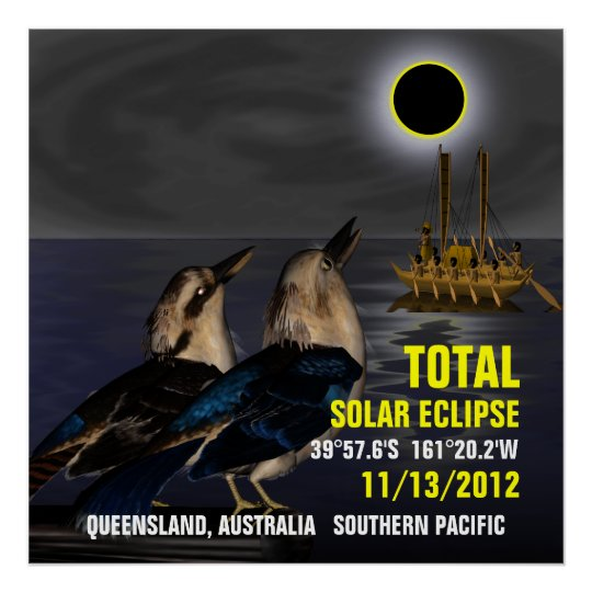 Total Solar Eclipse 11/13/2012 Poster