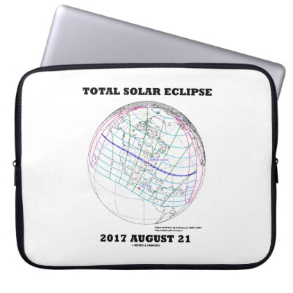 Total Solar Eclipse 2017 August 21 North America Computer Sleeve