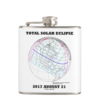 Total Solar Eclipse 2017 August 21 North America Flask