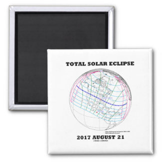 Total Solar Eclipse 2017 August 21 North America Magnet