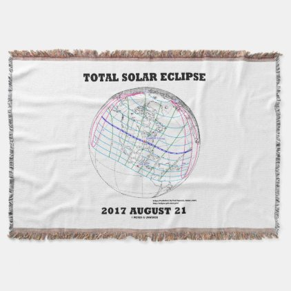 Total Solar Eclipse 2017 August 21 North America Throw