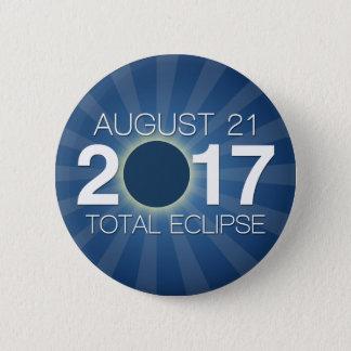 Total Solar Eclipse 2017 - Blue Design Button