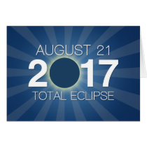 Total Solar Eclipse 2017 - Blue Design Card