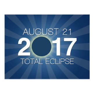 Total Solar Eclipse 2017 - Blue Design Postcard