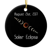 Total Solar Eclipse 2017 Ceramic Ornament