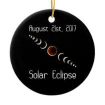 Total Solar Eclipse 2017 Ceramic Ornament