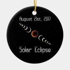 Total Solar Eclipse 2017 Ceramic Ornament at Zazzle