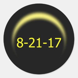 Total Solar Eclipse 2017 Classic Round Sticker