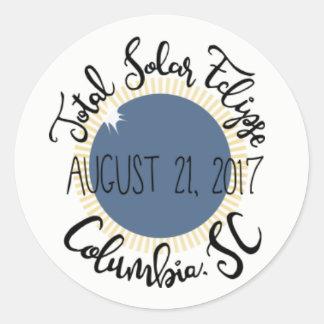 Total Solar Eclipse 2017 Columbia SC Round Sticker