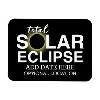Total Solar Eclipse 2017 - Custom Date & Location Magnet