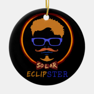 Total Solar Eclipse 2017 Funny Hipster Custom Text Ceramic Ornament