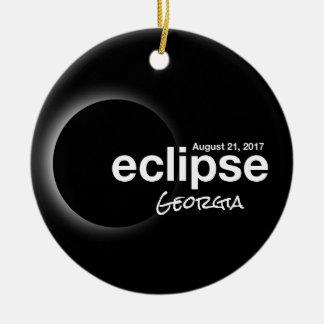 Total Solar Eclipse 2017 - Georgia Ceramic Ornament