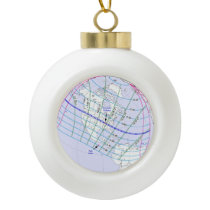 Total Solar Eclipse 2017 Global Path Ceramic Ball Christmas Ornament