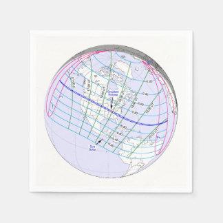 Total Solar Eclipse 2017 Global Path Napkin