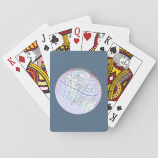 Total Solar Eclipse 2017 Global Path Playing Cards