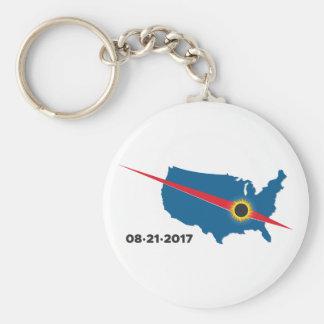 Total Solar Eclipse - 2017 - I saw it! Keychain
