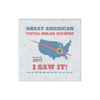 Total Solar Eclipse - 2017 - I saw it! Stone Magnet