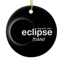 Total Solar Eclipse 2017 - Idaho Ceramic Ornament