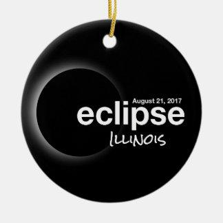 Total Solar Eclipse 2017 - Illinois Ceramic Ornament