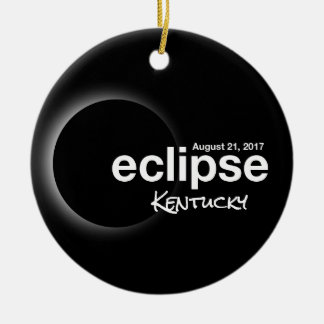 Total Solar Eclipse 2017 - Kentucky Ceramic Ornament