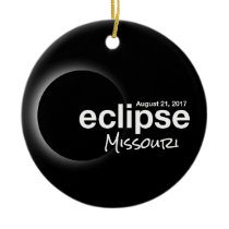 Total Solar Eclipse 2017 - Missouri Ceramic Ornament