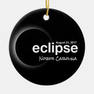 Total Solar Eclipse 2017 - North Carolina Ceramic Ornament