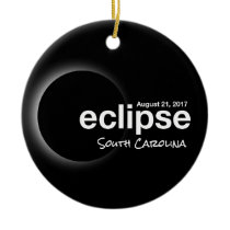Total Solar Eclipse 2017 - South Carolina Ceramic Ornament