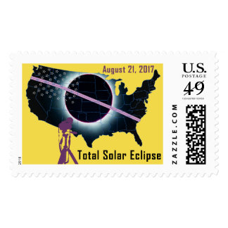 Total Solar Eclipse 2017 Stamp