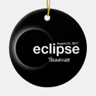 Total Solar Eclipse 2017 - Tennessee Ceramic Ornament