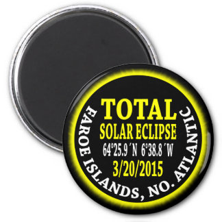 Total Solar Eclipse 3/20/2015 2 Inch Round Magnet